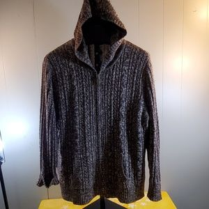 NorthCrest Zip Cable Knit Cardigan